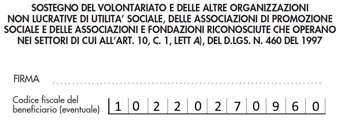 5x1000 documento
